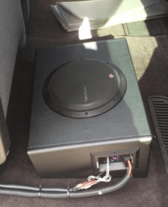 Easily placed under the seat, hidden from view.
